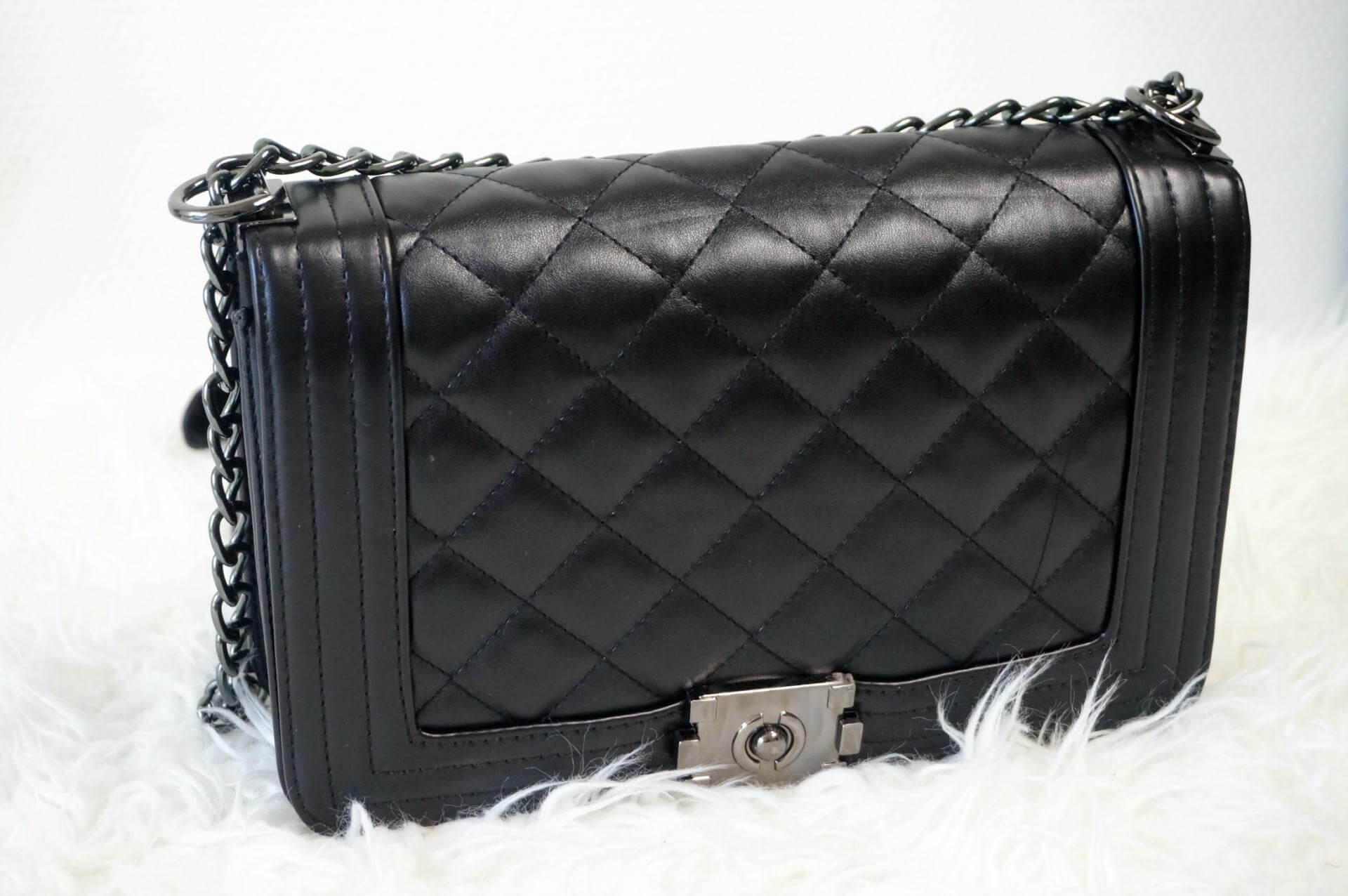 Chanel Inspired Quilted Chain Bag Beautyopinie