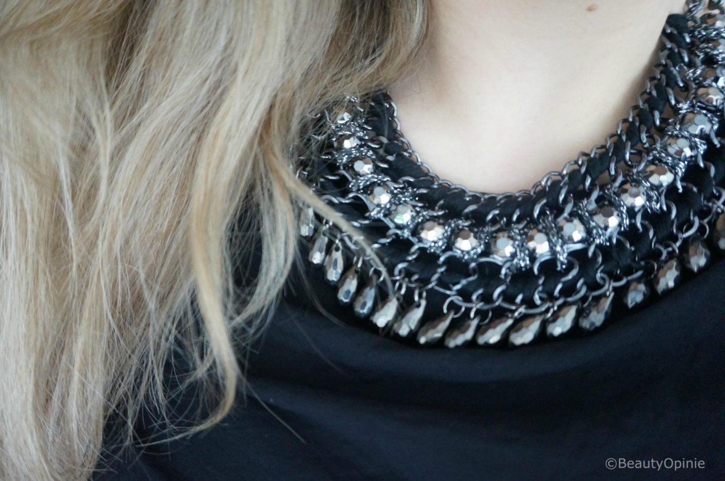 Happiness Boutique Vintage Inspired Black Stone statement ketting