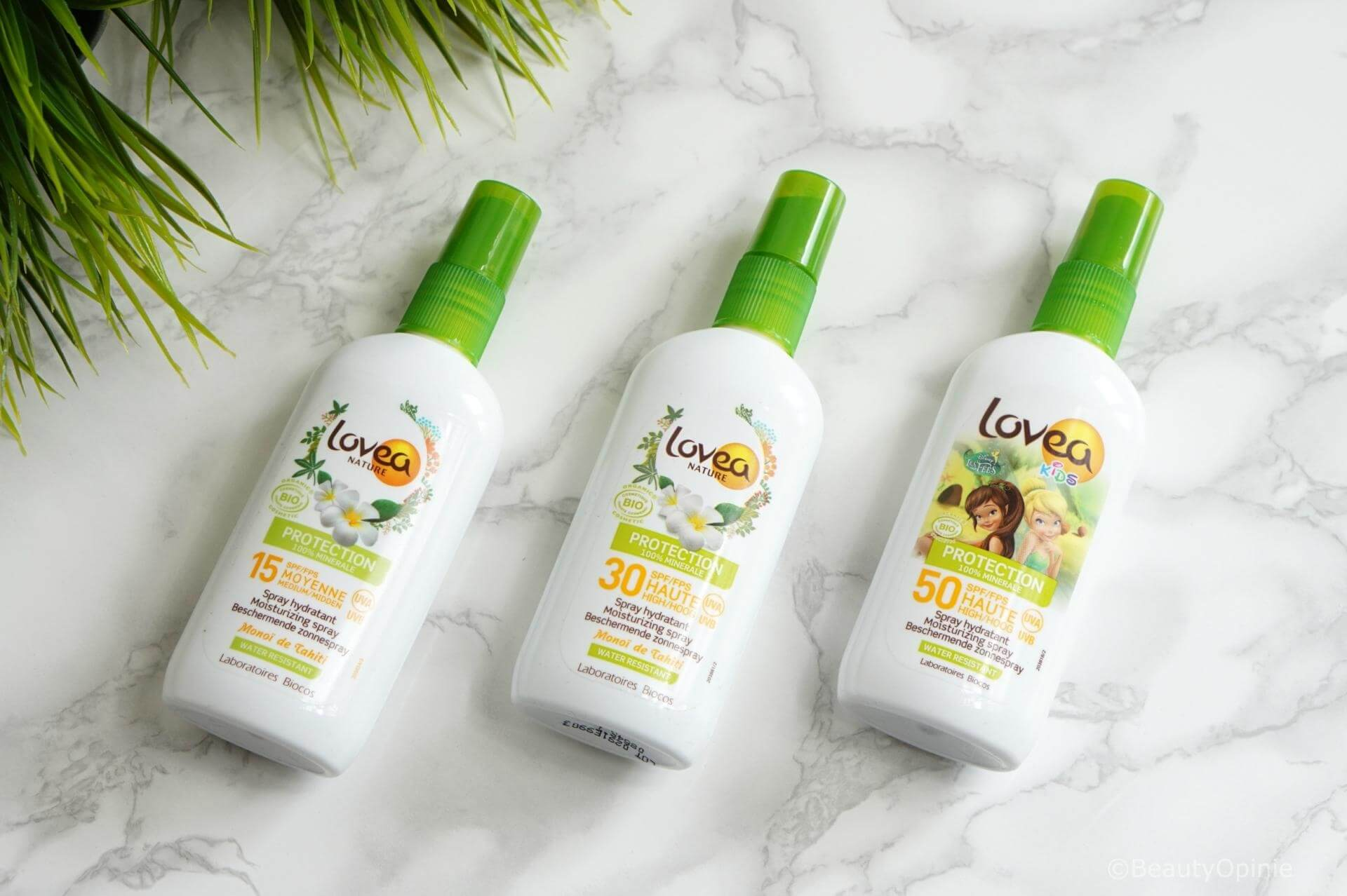 LOVEA BIO Sun Sprays met factor