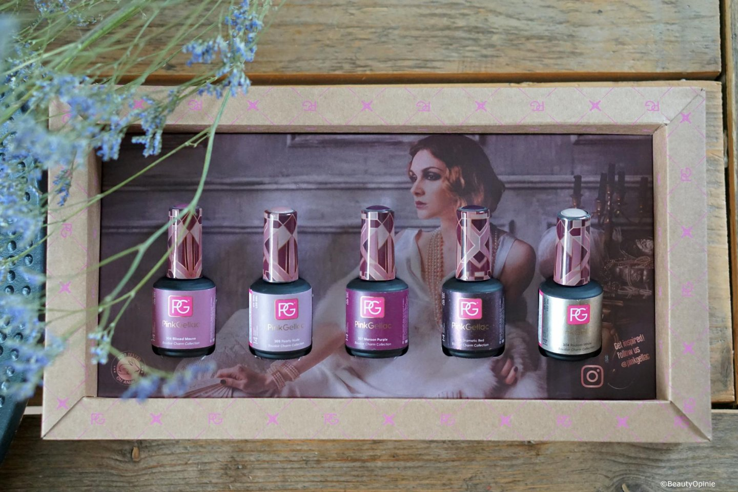 Pink Gellac Boudoir Charm Collection swatches