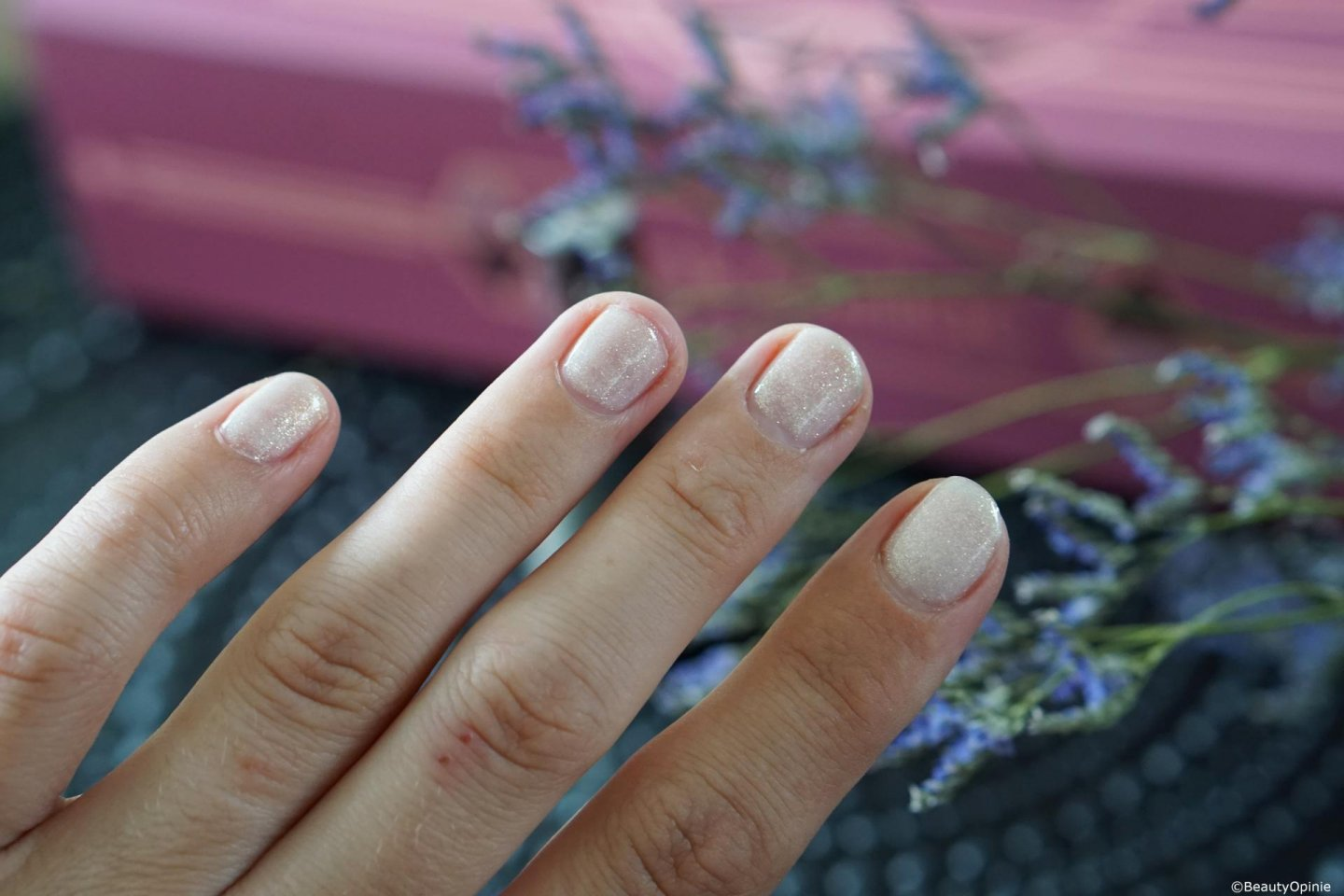swatches radiant white pink gellac
